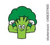 cartoon flexing muscular...   Shutterstock .eps vector #1408357400