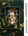 vegetables on wood. organic... | Shutterstock . vector #1408359659