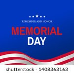 memorial day celebration banner ... | Shutterstock .eps vector #1408363163