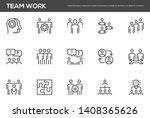 team work vector line icons set.... | Shutterstock .eps vector #1408365626