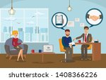 business deal conclusion flat... | Shutterstock .eps vector #1408366226