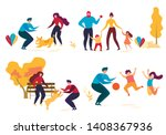 cartoon people character in... | Shutterstock .eps vector #1408367936