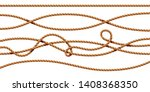 set of isolated curvy 3d ropes. ... | Shutterstock .eps vector #1408368350