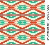 rug geometric tribal seamless... | Shutterstock .eps vector #140837209
