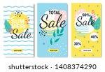 Summer Sales Tropical Set In...