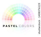 discrete set of pastel shades.... | Shutterstock .eps vector #1408376123