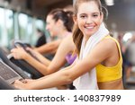happy people doing indoor... | Shutterstock . vector #140837989