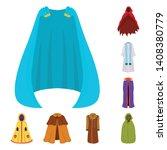 vector design of cloak and... | Shutterstock .eps vector #1408380779