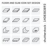 floor material such as wood ... | Shutterstock .eps vector #1408383893