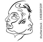 Continuous Line Drawing Of...
