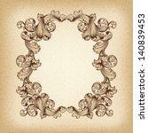 vector vintage border  frame... | Shutterstock .eps vector #140839453