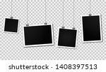 vintage photo frames hanging on ... | Shutterstock .eps vector #1408397513