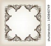 vector vintage border  frame... | Shutterstock .eps vector #140840749