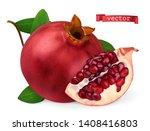 pomegranate vectorized image.... | Shutterstock .eps vector #1408416803