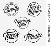 mexican food and drink... | Shutterstock .eps vector #1408424276