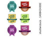 price tags label with sale and... | Shutterstock .eps vector #1408424300