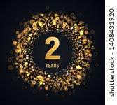 2 years anniversary isolated...   Shutterstock .eps vector #1408431920