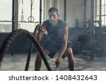 strong young man working out...   Shutterstock . vector #1408432643