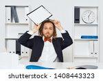 documents racks man dreadlocks...   Shutterstock . vector #1408443323