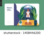 medical insurance template ... | Shutterstock .eps vector #1408446200