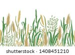 Seamless Border With Cereals....