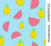 seamless pattern with pineapple ... | Shutterstock .eps vector #1408454510