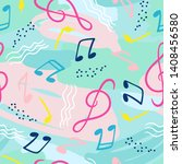 seamless pattern with musical... | Shutterstock .eps vector #1408456580