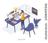 modern flat design isometric... | Shutterstock .eps vector #1408459346