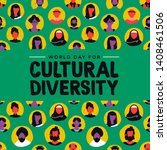 cultural diversity day greeting ... | Shutterstock .eps vector #1408461506