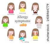 allergy symptoms  vector flat...   Shutterstock .eps vector #1408464779