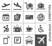 airport icon set. universal... | Shutterstock .eps vector #140847496