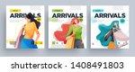 urban shopping girls banners... | Shutterstock .eps vector #1408491803