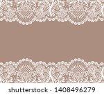 horizontally seamless beige... | Shutterstock .eps vector #1408496279