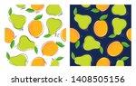vector set of seamless patterns....   Shutterstock .eps vector #1408505156