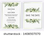 wedding invite  invitation ... | Shutterstock .eps vector #1408507070