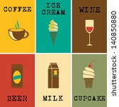 set of colorful posters with... | Shutterstock .eps vector #140850880
