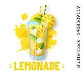 lemonade   vector illustration. ...   Shutterstock .eps vector #1408509119