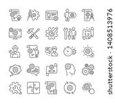 engineering line icons. set of... | Shutterstock .eps vector #1408513976