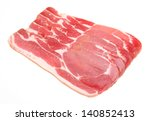 raw dry cured back bacon | Shutterstock . vector #140852413