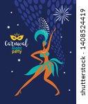 traditional brazilian carnival  ... | Shutterstock . vector #1408524419