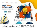 build ideas in team work ... | Shutterstock .eps vector #1408531049