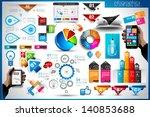 infographic elements   set of... | Shutterstock . vector #140853688