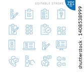 survey related icons. editable... | Shutterstock .eps vector #1408538999