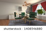 interior dining area. 3d... | Shutterstock . vector #1408546880