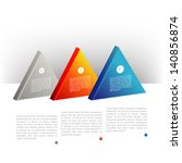 Presentation template triangle graph. Pie chart diagram. Infographics web elements.