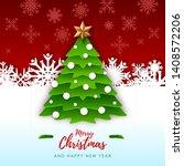 vector illustration of merry... | Shutterstock .eps vector #1408572206