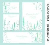 meadow plant background set in... | Shutterstock .eps vector #1408604906