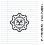 nuclear  radioactive icon drawn ... | Shutterstock .eps vector #1408608869