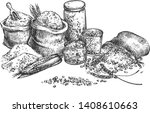vector illustration of grocery... | Shutterstock .eps vector #1408610663