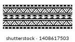 tattoo tribal maori pattern... | Shutterstock .eps vector #1408617503